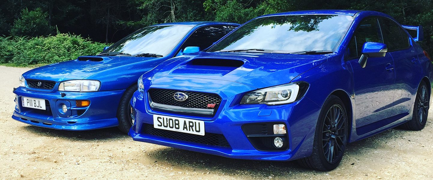 A day out with the two top subarus
