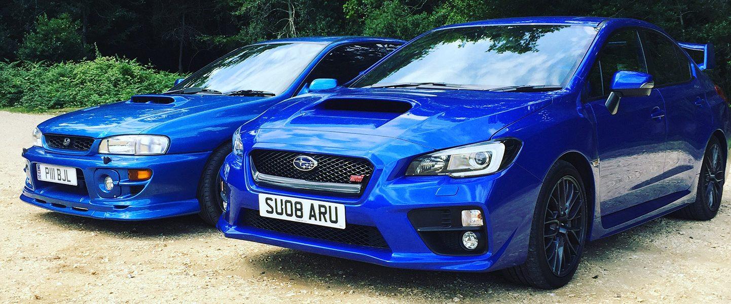 Subaru WRX STi and a Prodrive Impreza P1